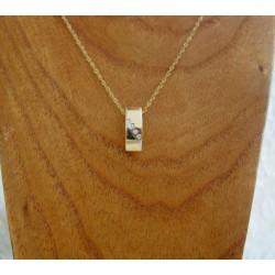 Hanger ~ BEATRICE Gouden 14 karaats Bicolor (wit- & geelgoud) hanger met Diamant