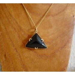 Hanger ~ BIANCA Gouden 14 karaats Hanger met Onyx