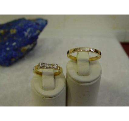 Trouwringen ~ SARA Gouden 14 karaats Trouwringen met Diamant