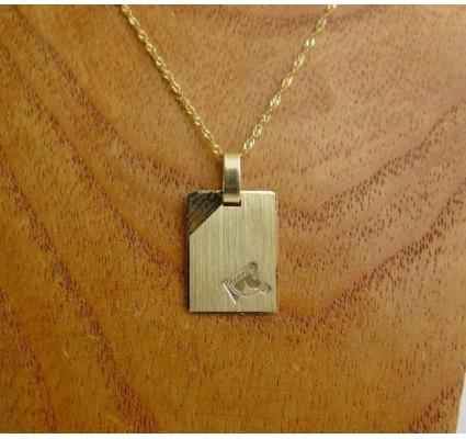Hanger ~ Gouden 14 karaats Graveerplaat Paard