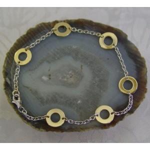 """Armband ~ ADRIANA Gouden 14 karaats Bicolor (Wit- & Geelgouden) Cherchio """"Anker"""" Armband beschikbaar tot en met 19cm"""