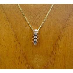 Hanger ~ Gouden 14 karaats hanger met Diamant