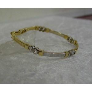 Armband ~ MEANDER Gouden 14 karaats bicolor (wit- & geelgouden) Meander Grieks Armband