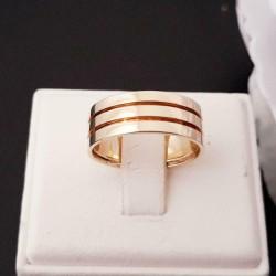 Ring ~ Geelgouden 14 karaats brede klassieke ring