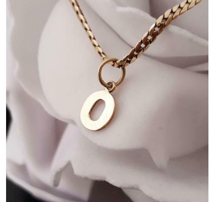Hanger ~ Gouden 14 karaats Letter O hanger