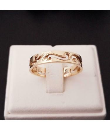 Ring ~ CREATIVE Gouden 14 karaats Ring met Design
