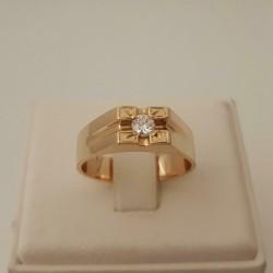 Ring ~ Gouden 18 karaats Heren Ring met Diamant