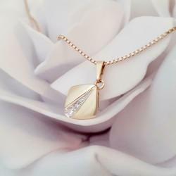 Hanger ~ ANNAMARIA Gouden 14 Karaats Hanger met Diamant