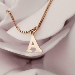 Hanger ~ Gouden 14 karaats letter A hanger