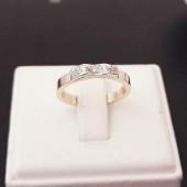 Gouden 14 karaats Ring met Diamanten