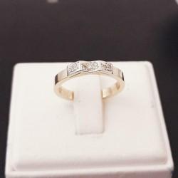 Ring ~ Gouden 14 karaats Ring met Diamanten