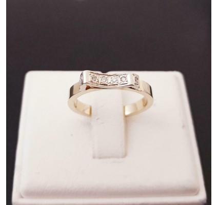 Ring ~ Wit- en Geelgouden 14 karaats Ring met Diamanten
