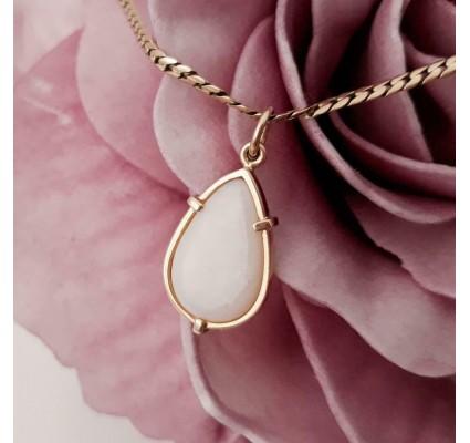 Hanger ~ ANGELICA Gouden 14 karaats Hanger met Opaal