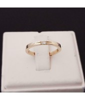 Ring ~ Gouden 14 karaats Ring met 1 Diamant