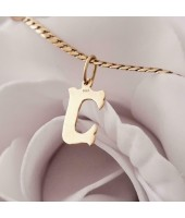 Hanger ~ Gouden 14 karaats Letter C hanger