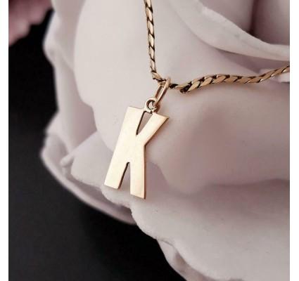 Hanger ~ Gouden 14 karaats letter K hanger