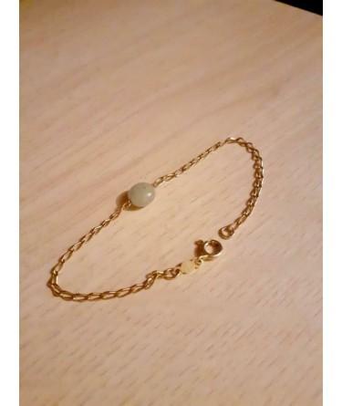 Armband ~ Gouden 14 karaats Armband met Morganiet