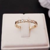 Ring ~ Gouden 14 karaats Rijring met 5 Diamanten