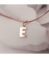Gouden 14 karaats Letter E hanger