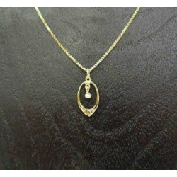 Hanger ~ MILA Gouden 14 karaats hanger met Zoetwater parel
