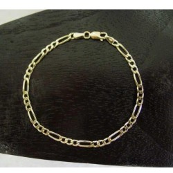 Armband ~ ABBAN Gouden 14 karaats Figaro schakel Armband beschikbaar tot en met 19.5cm