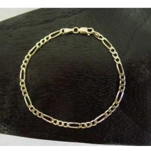 Armband ~ Gouden 14 karaats Figaro schakel Armband beschikbaar tot en met 19.5cm