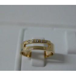 Ring ~ Gouden 14 karaats Design Ring met Diamant