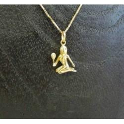 Hanger ~ Gouden 14 karaats maagd Sterrenbeeld hanger