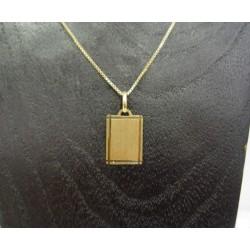 Hanger ~ Gouden 14 karaats Graveerplaat hanger