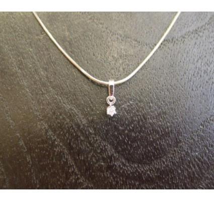 Hanger ~ Witgouden 14 karaats hanger met Diamant