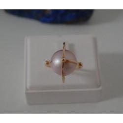 Ring ~ Roodgouden 14 karaats Ring met zoetwater parel