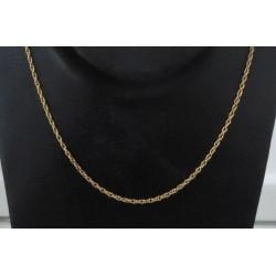 Ketting ~ Gouden 14 karaats gedraaide ketting beschikbaar tot en met 43cm
