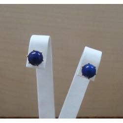 Oorbellen ~ Gouden 18 karaats oorbellen met Lapis Lazuli