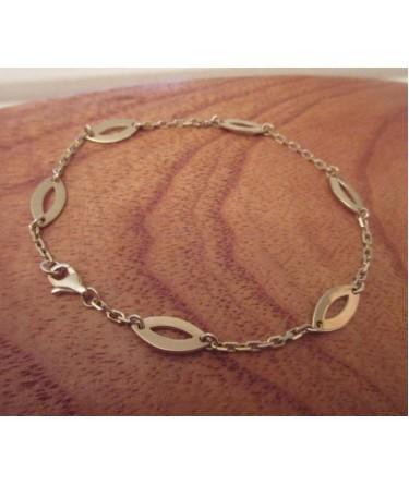 Armband ~ ANNA Gouden Anker Schakel Design Armband beschikbaar tot en met 18cm