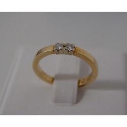 Ring ~ Gouden Rijring met 2 Diamanten