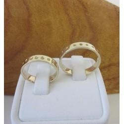 Trouwringen ~ JULIETTE Handgemaakte 14 karaats gouden Ringen