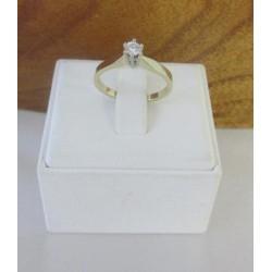 Ring ~ Gouden Solitair Ring met 0.12 crt Diamant