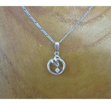 Hanger ~ LOVELA Witgouden 14 karaats hanger met Diamant