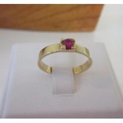 Ring ~ Gouden 14 karaats Ring met Robijn