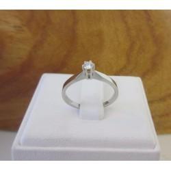 "Ring ~ XENIA Witgouden 18 karaats ""Solitair"" Ring met Diamant"