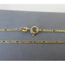Ketting ~ Gouden 14 karaats Figaro ketting beschikbaar tot en met 45cm