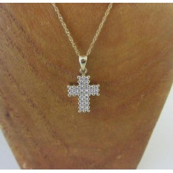 Hanger ~ Gouden 14 karaats Kruis met Zirconia