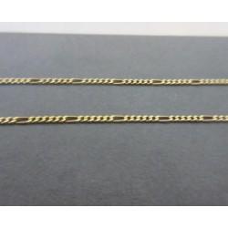 """Ketting ~ Gouden 14 karaats """"Figaro"""" schakel ketting beschikbaar tot en met 44cm"""