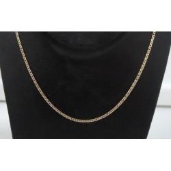 Ketting ~ Gouden 14 karaats design schakel ketting Lengte tot en met 43cm