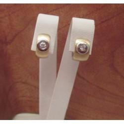 Oorbellen ~ Gouden 14 karaats bicolor (wit- & Geelgoud) Oorbellen Creool met Zirconia