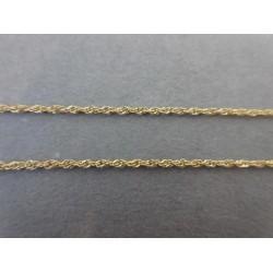 Ketting ~ Gouden 18 karaats gedraaide ketting beschikbaar tot en met 51cm