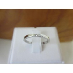 Ring ~ Witgouden 14 karaats Ring met Diamant