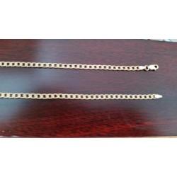 Ketting ~ Gouden 14 karaats schakel gourmet ketting beschikbaar tot en met 55 cm