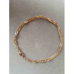 Armband ~ ALFONSO Gouden 14 karaats gedraaide Armband beschikbaar tot en met 20cm