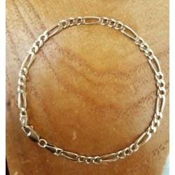Armband ~ AZIENDA Gouden 14 karaats Figaro schakel Armband beschikbaar tot en met 19.5cm